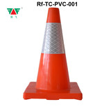 45CM Height 100% Pure PVC Traffic Cone