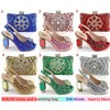 women wedding shoes and bag for shinning party in italian matching shoes and bags