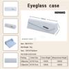classic PU leather glasses case, eyeglass box, folding optical case