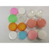 plastic contact lens case, waterproof dual box, tiny box