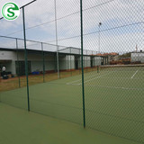 Height 3m-9m Sports Field Galvanized Chain Link Fence Manufacturer