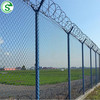 Hot Dipped Galvanized Chain Link Fencing, Anti Climb Y Post Barbed Wire Fence
