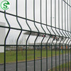 Hot Galvanized 5mm Wire Powder Coated 3D Bending Airport Fence Panel