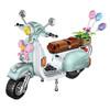 LOZ 2020 Christmas gift Travel Car scooter Model Educational Toys for Children