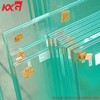 Clear PVB laminated glass produce by professional building glass factory