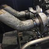 Titanium silicone fiberglass muffler heat blanket