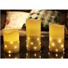 Warm light Flameless led candle set of 3
