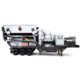 Tire type mobile crushing station Industrial crawler type mobile crusher