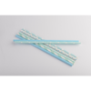 Economical fluorescent tricolor biodegradable drinking paper straws