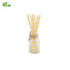 Best supplier yellow lemon long drinking straws paper factory