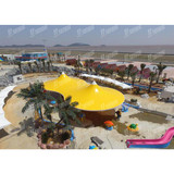 Water-Proof Pvdf Tensile Landscape Tent Membrane Structure Hotel Tent For Resort