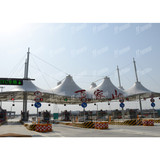High Speed Toll Station custom tensile membrane structure