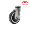 100mm(4 inch)Medical TPR All Plastic Swivel bolt hole caster