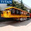 TITAN 3 Axle 40ft Container Flatbed Semi Trailer