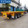 What is the difference between drawbar flatbed trailer and a platform semi-trailer?