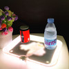 LED Serving Tray Liquor Display Glow Rolling Tray Plastic Food Serving Rechargeable Change Colors By Remote Control/color tray
