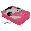 Rectangular Cosmetic Tin Box for Eye Mask and Skin Care