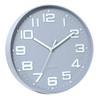 Round Wall Clock Grey Quartz Battery Operated