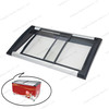 Top Open Freezer Glass Canopy with Injection Frame