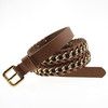 Fashion women dress belt Lady waistband pu leather belt for jeans