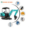 GARDEN USE 1.5 TON MULTIFUNCTION MINI CRAWLER EXCAVATOR