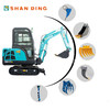 SD17B 1.5 TON MULTIFUNCTION MINI EXCAVATOR WITH IMPORTED HYDRAULIC SYSTEM