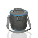 Hot Sale OEM Adjustable volume cylindrical insulated lunch cooler bag