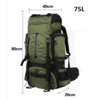 Mountain Backpack with rain cover Shoulder Bag Large Capacity outdoor climbing camping Hiking backpack