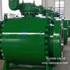 DBB Trunnion Mounted Ball Valve Cast Steel Forge Steel  150LB 300LB RF