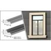 villa outdoor EPS foam window sill and trim mouldings