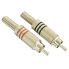 RCA03M  1 Pair RCA Male Plug Phono Connector Nickel Plated
