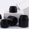 Amazing Quality 30G 50G Packaging Jars Black Cosmetic Cream Jar With Cap