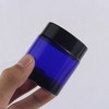 Top Quality Frosted Blue 50g Cream Jar Glass Bottle With Black Lid
