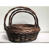 CHEAP CHRISTMAS WICKER BAKET WHOLESALER WICKER WILLOW MANUFACTURER EMPTY GIFT BASKET WITH HANDLE