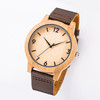 BW01 2020 amazon engraved custom logo mens classic wooden wood bamboo wrist watches for men and women japan oem wholesale