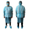disposable nonwoven isoaltion gowns with elastic cuff or knit cuffs for hospital use