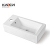 high quality rectangular bathroom basin wall mounted or wall hanging