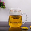 Mushroom Shape Glass Cup For Drinking Glass Cup With Handle