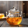 High Borosilicate Heat Resistant Glass Teapot Set With Glass Infuser Glass Teapot With Two Handle