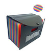 Office Multi-Color Expanding File case A6/A4 File Organizer Folder 24 Pockets with Labels Rope Buckle