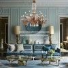 Large Villa Hotel Lobby Chandelier Classic French Solid Brass K9 Crystal Raindrop Chandelier Lighting Pendant Lamp