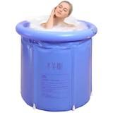 Portable Foldable 3 Layer PVC SPA Bathtub Freestanding Ice Bathtub, 29.5 Inch Blue