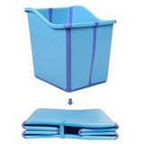 Foldable Toddlers Children Baby Bath Tub for Kids Blue