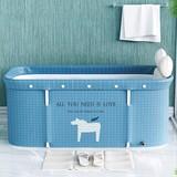 Mobile bathtub, retractable bathtub, for adults, portable, robust and antislip, family and children bathtub, 120 x 55 x 50 cm