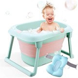 foldable baby bath tub, Portable infant newborn infant bath support for 0-5 years