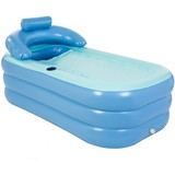 Inflatable bathtub for adults, independent blowers with retractable portable function for adult spa with foot air pump