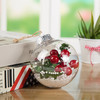 Transparent Christmas Ball 8cm Ball Christmas Ornament Holiday-Themed Christmas Tree Ornament Plastic Ball CB-1001